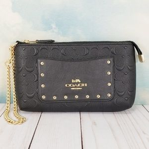 COACH Large Signature Chain Wristlet